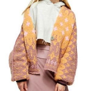 NWT Free People Winter Wonderland Cardigan XL